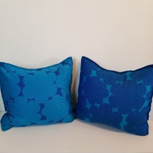 Set of 2 handmade throw pillow covers 18x18